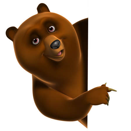cartoon b�r: Brown Grizzlyb�ren