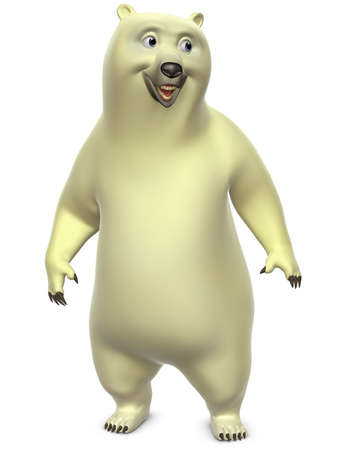 cartoon polar bear photo