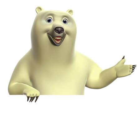 polar bear: cartoon polar bear