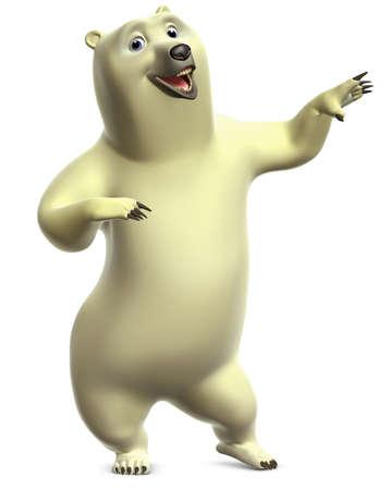 black bear: cartoon polar bear