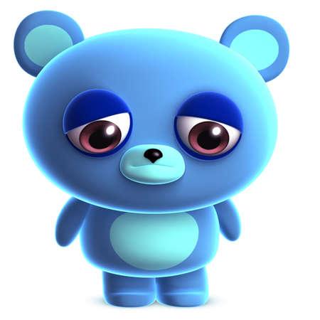cute bear: 3d cute blue bear