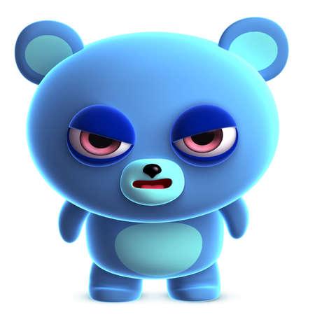clumsy: 3d cute blue bear