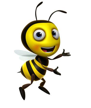 abeja: 3d lindo miel de abeja Foto de archivo
