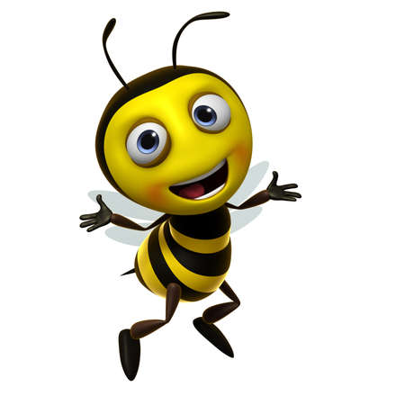 3d cute honey bee