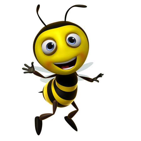 bumble bee: 3d cute honey bee