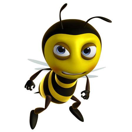 3d cute honey bee  photo