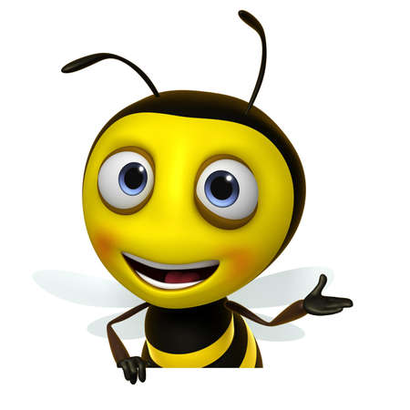 abejas: 3d lindo miel de abeja Foto de archivo