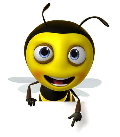 cute clipart: 3d cute honey bee