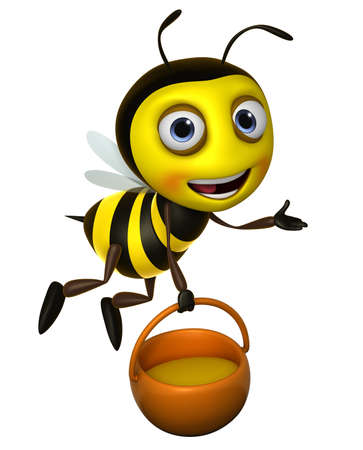 honey bees: 3d cute honey bee