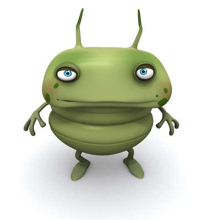louse: 3d cartoon bug