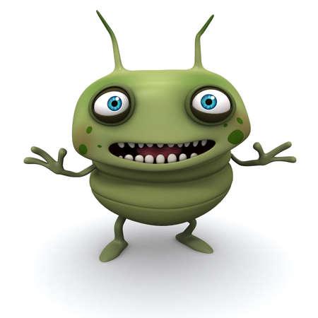 filth: 3d cartoon bug