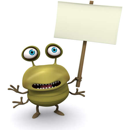 virus informatico: 3d cartoon bug cartel celebración