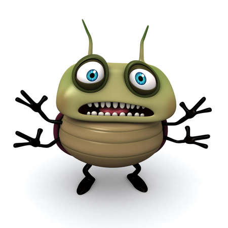 micro organism: 3d cartoon bug