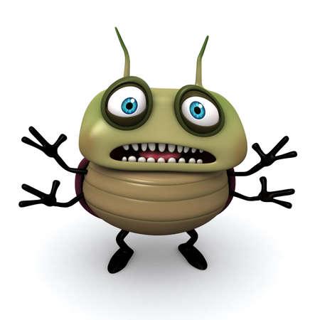 3d cartoon bug