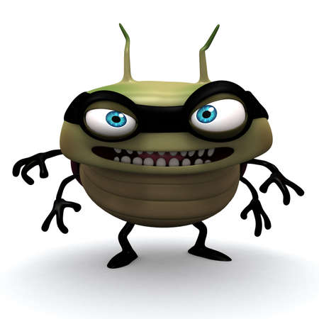 an insect: 3d cartoon bug