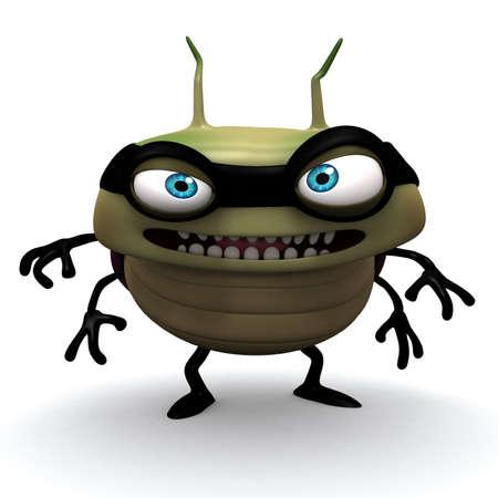 virus informatico: Bug dibujos animados 3d