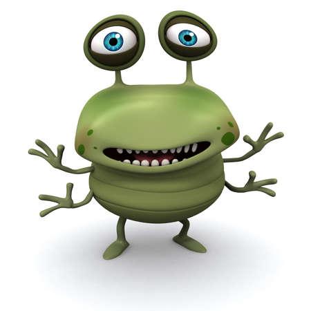 ugliness: 3d cartoon bug