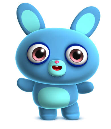 cute blue bunny photo