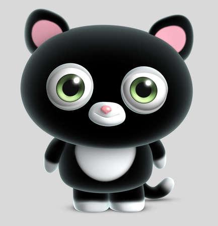 purr: cute black cat