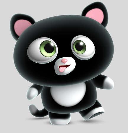 crazy black cat