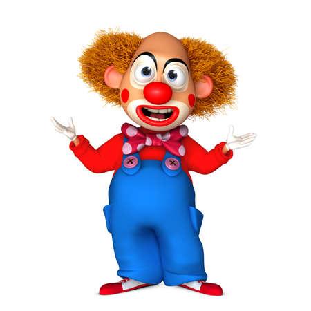 clown nose: cartoon clown Stock Photo