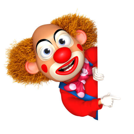 red happiness: cartoon clown Stock Photo