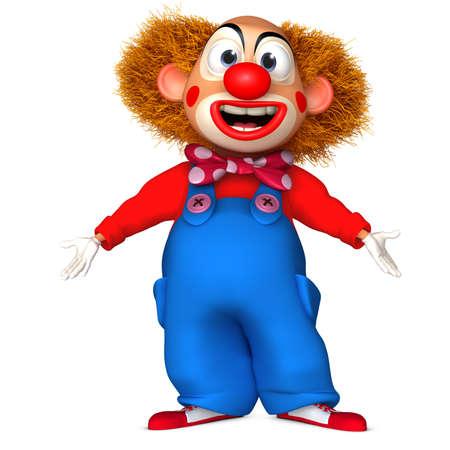 clown face: cartoon clown Stock Photo