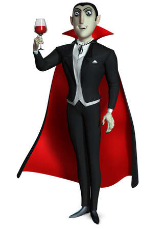 cartoon vampire: Count Dracula