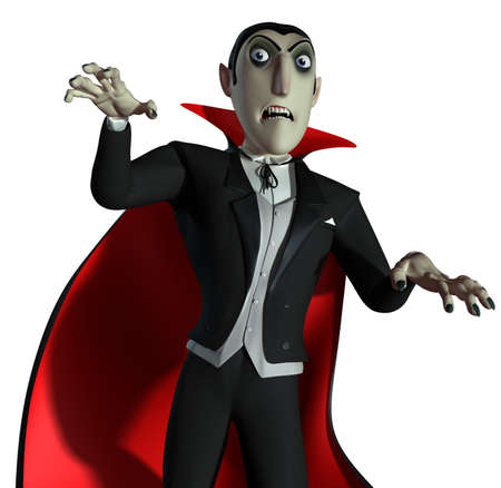 cartoon vampire: 3d Count Dracula
