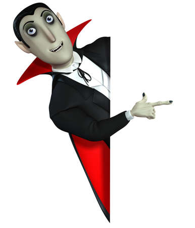 3d vampire: 3d cartoon Count Dracula