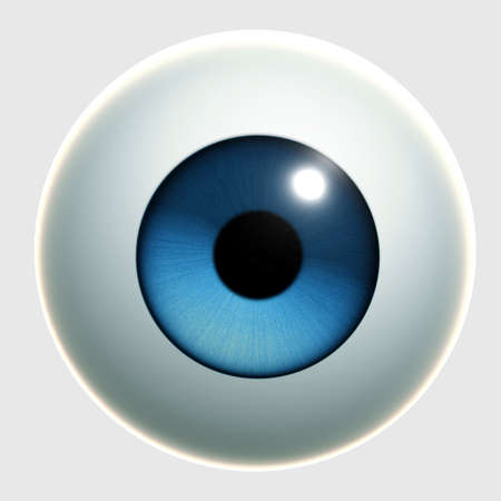 ojos caricatura: Ojo de dibujos animados 3D Foto de archivo