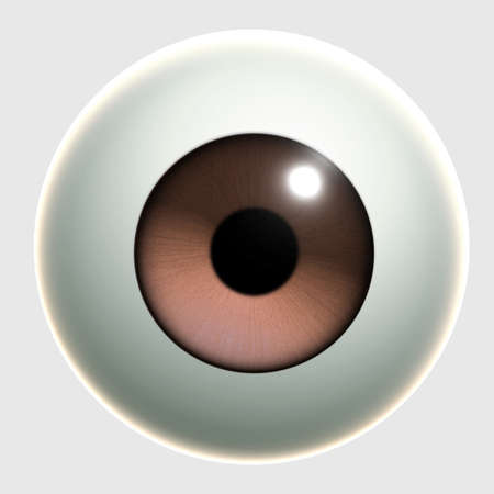 brown eyes: 3d cartoon eye