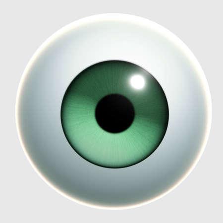 globo ocular: Ojo de dibujos animados 3D Foto de archivo