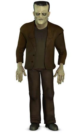 reanimated: cartoon Frankenstein
