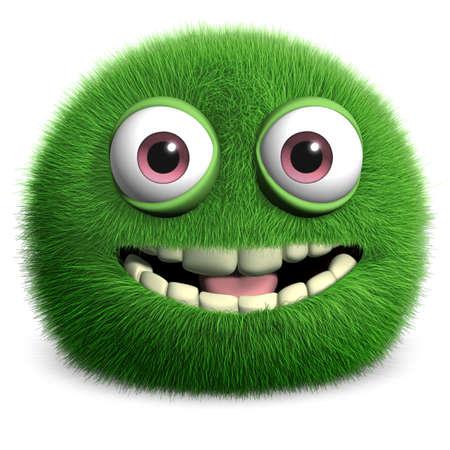 furry animals: monstruo peludo verde