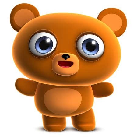 cute bear: 3d cute brown bear