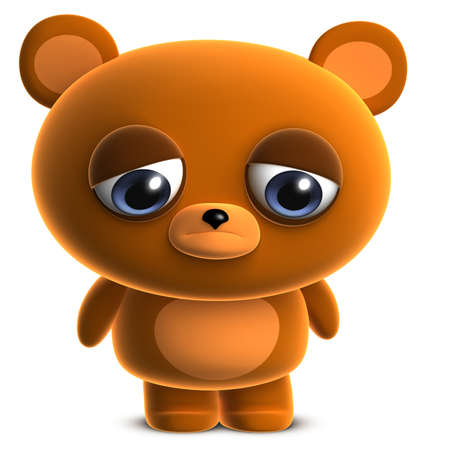 3d cute brown bear photo