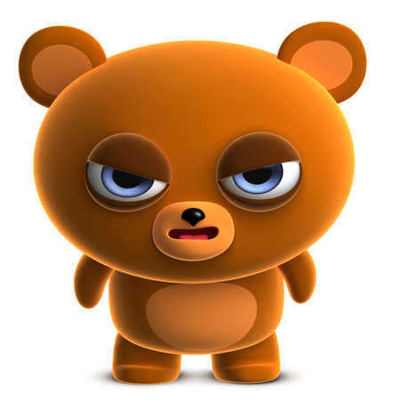 3d cartoon cute brown bear photo