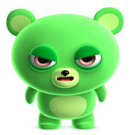 3d cute green bear photo