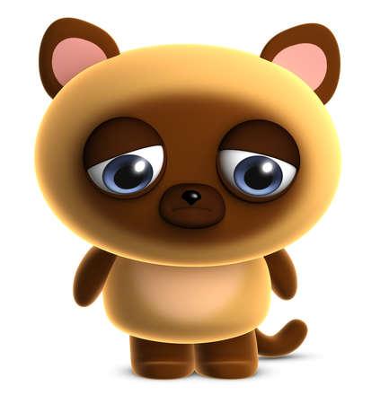 purr: 3d cartoon cute brown cat