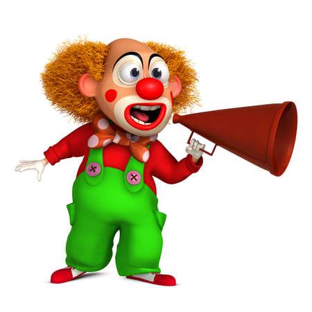 clown nose: 3d cartoon clown