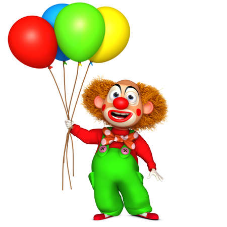 comedian: cartoon clown Stock Photo