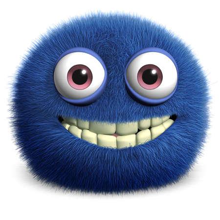 blue eye: furry monster Stock Photo