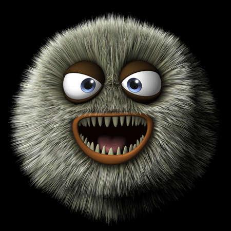 animal teeth: 3d cartoon furry monster