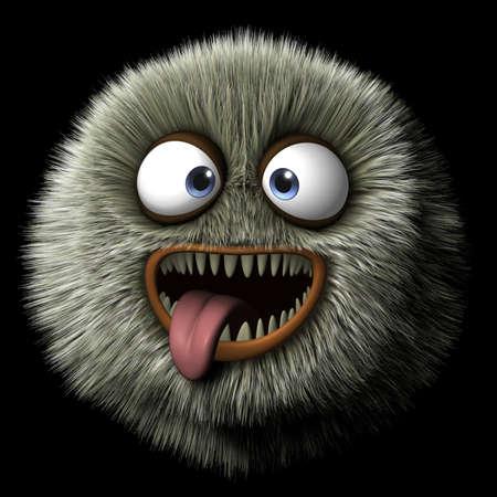 3d cartoon furry monster photo