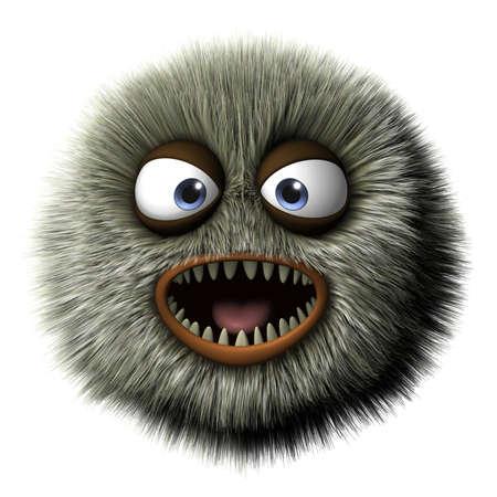 cartoon monster: 3d cartoon furry monster
