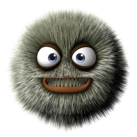grin: 3d cartoon furry monster
