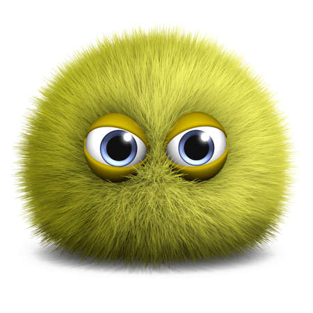 yellow fleece: 3d cartoon furry monster