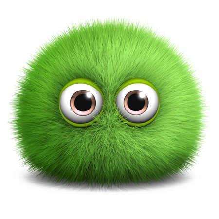 soft toy: 3d cartoon furry monster