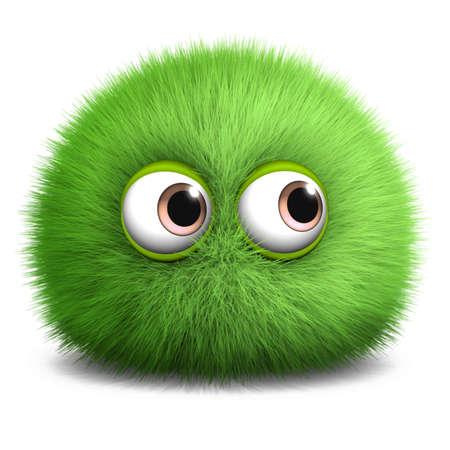 alien cool: 3d cartoon furry monster